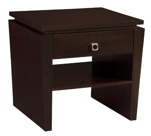 Cheap Classic Modern End Table With Tapered Legs And Floating Top Wenge (B0041LIOIY)