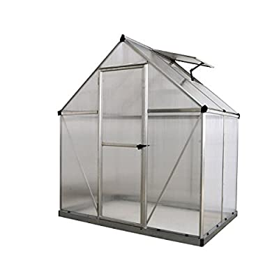 Poly-Tex Nature 6 x 6-Foot Greenhouse - Silver Frame - Twin-Wall Greenhouse