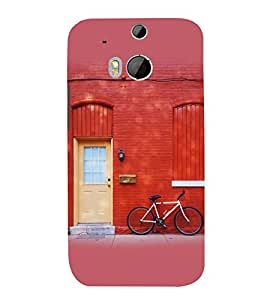 printtech Wall Art Country side Back Case Cover for HTC One M8 / HTC M8