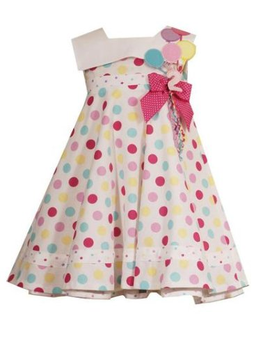 White Pink Balloon Boutique 1st Birthday Dress Baby Girls 12M-4T