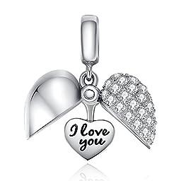 Glamulet Art Women\'s 925 Sterling Silver Unveiling the Secret I Love You Fits Pandora Bracelet