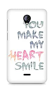 AMEZ You make my heart smile Quote Back Cover For Micromax Unite 2 A106