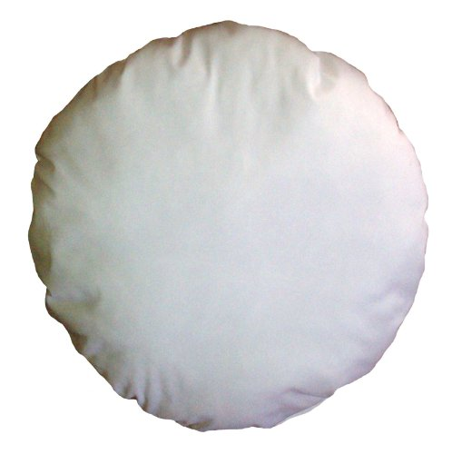 14 Inch Diameter Round White Cotton-Blend Throw Pillow Insert Form