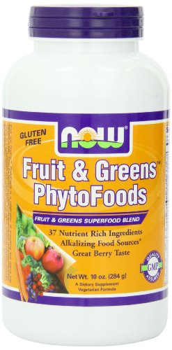 Now Foods Fruit And Greens Phytofoods Powder, 10-Ounce