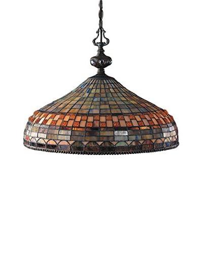Artistic Lighting Jewelstone 3-Light LED Pendant Light, Classic Bronze