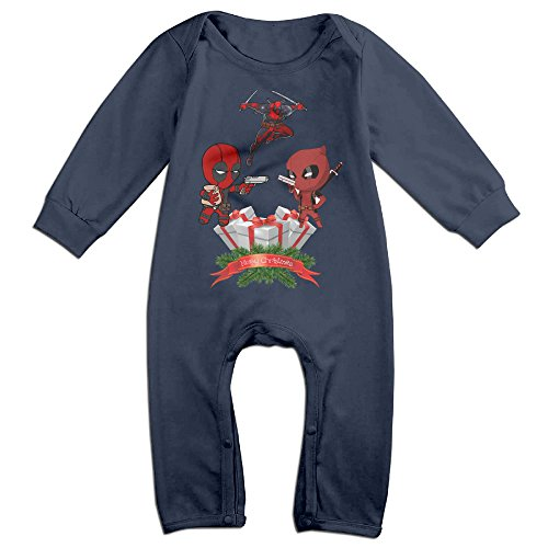 [VanillaBubble Christmas House And Deadpool For 6-24 Months Baby Vintage T-shirt Navy Size 24 Months] (Infant Sylvester Costumes)