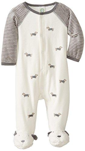 Little Me Baby-Boys Newborn Dachshund Velour Footie, Multi, 6 Months front-925260