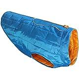 Kurgo Loft Dog Jacket, Small, Blue/Orange