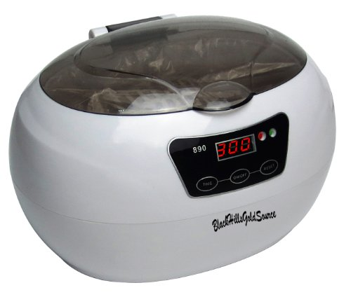 Blackhillsgoldsource Model 890 Professional Ultrasonic Cleaner - 30 Minute Timer - Ultrasonic Jewelry Cleaner, Eyeglass Cleaner, Dentures Cleaner And Other Household Sonic Cleaning - 600Ml, 50 Watt, 42Khz - Digital Timer With 18 Cycles To 30 Minutes front-188901