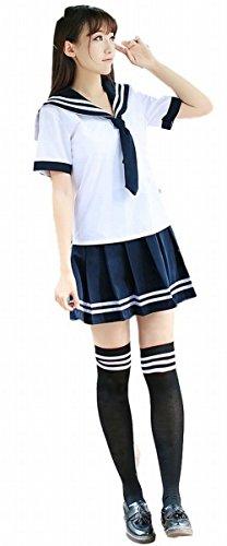 POJ Chorus Style Japanese High School Girls Uniform [ L / XL For Women With Scarf ] (L)