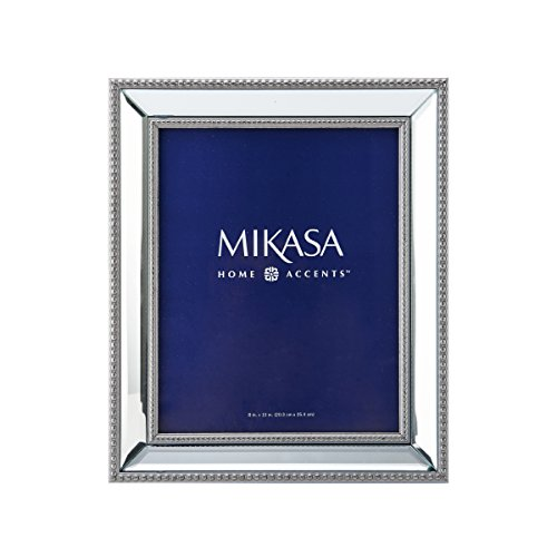 Mikasa Beaded Mirror Picture Frame, 8-by-10-Inch (Mirror Frame compare prices)