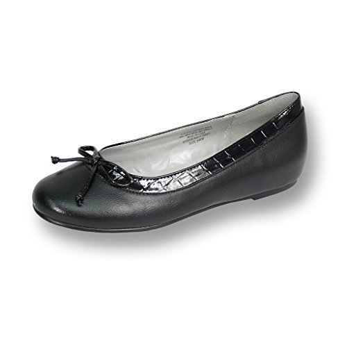 FIC PEERAGE Abby Women Wide Width Leather Flat for Casual or Fancy Attire (Size & Measurement Guides)