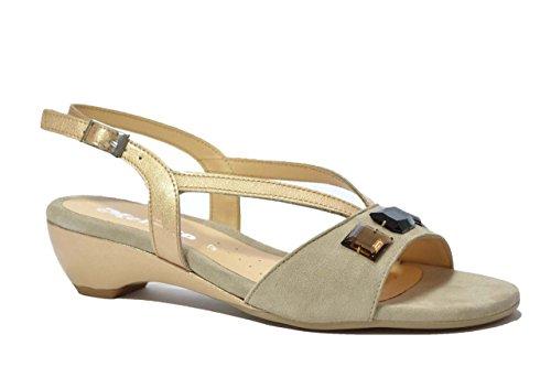 Melluso Sandali scarpe donna oro 08720 38
