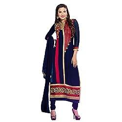 Swasti Fabrics Vbuyz Georgette Embroidered Semi-Stitched Long Salwar Kameez