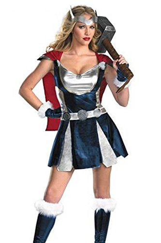 Lover-baby® Deluxe Hollywood Famous Movies Adult Thor Girl Costume