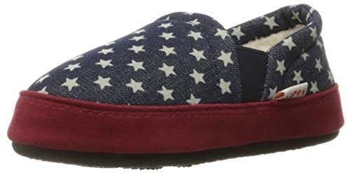 ACORN Kids' Colby Gore Moc Slipper, Navy Stars, 3/4 M US Big Kid (Boys House Slippers compare prices)