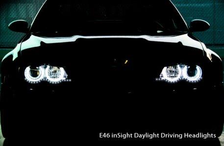 New Bmw E46 3 Series & M3 Insight Daylight Running Headlights Xenon Kit 99-06 4Dr 2Dr