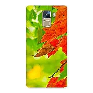 Impressive Leaf Multicolor Back Case Cover for Huawei Honor 7