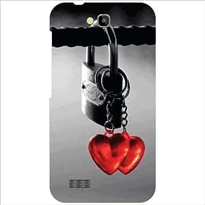 Printland Lock & Key Phone Cover For Honor Holly Hol-U19