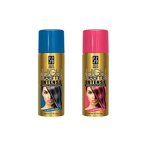 High Beams Intense Temporary Spray Hair Color Popstar Pink & Head Bangin Blue Set (Pop Color Hair compare prices)