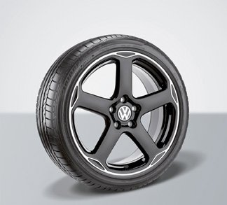VOLKSWAGEN KARTHOUM BLACK WHEEL AND TIRE COMBINATION