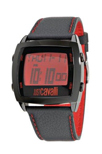 Just Cavalli R7251225085 - Reloj unisex de cuarzo, correa de piel color negro