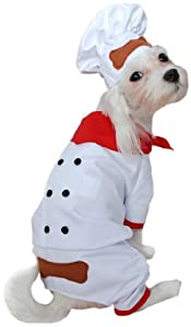 Anit Accessories 2-Piece Chef Baker Dog Costume
