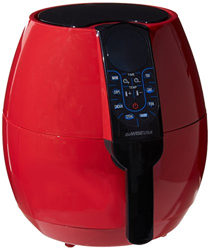 GoWISE USA GW22639 8-in-1 Electric Air Fryer Digital Programmable Cooking Settings (3.7 Qt, Red 2.0), , Chili Red (Gowise Fryer compare prices)
