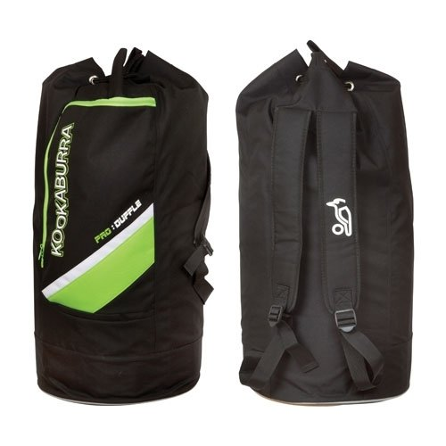 Kookaburra Pro DUFFLE Bag Cricket Kit Bag New 2012 Luggage (Black/ Lime)
