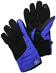 Timberland Men's Fleece Soft Shell Glove with Touch Screen Technology, Blue, Large