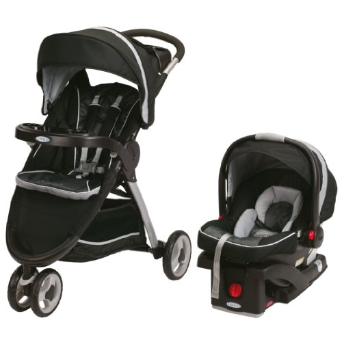 Review Graco FastAction Fold Sport Stroller Click Connect Travel System, Gotham