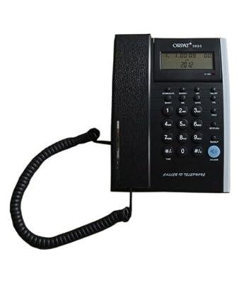 Orpat 3665 Corded Landline Phone (Full Black)