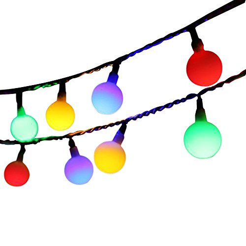 Globe String Lights For Bedroom : [Updated Version] Bedroom Globe LED String Lights Battery Powered with Remote Timer Outdoor ...