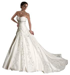 Faironly White Ivory Sweetheart Wedding Dress - Lesbian Wedding Dress