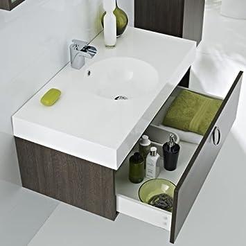meuble sous lavabo suspendu 400x600x480mm 400x600x480mm miroir paimpol cuisine. Black Bedroom Furniture Sets. Home Design Ideas
