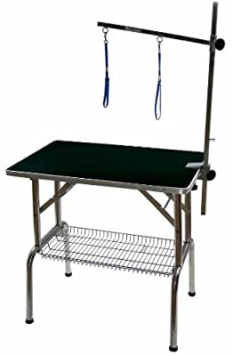 "BLUE - 32"" / 81cm Emperor Fold Flat Professional Dog Grooming Table inc Grooming Arm & Noose + Accessories Tray"