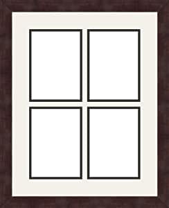 ArtToFrames 1.25-Inch Espresso Picture Frame with 4 Openings of 5 by 7-Inch and a Super White Top Mat and Black Bottom Mat