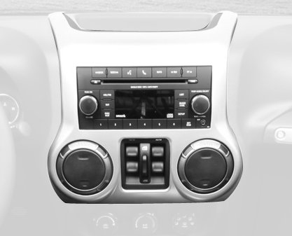 Rugged Ridge 11152.24 Brushed Silver Center Radio Console (2014 Jeep Wrangler Dash Cover compare prices)