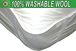 Naturalé Premium WASHABLE 100% Australian Wool Mattress Pad