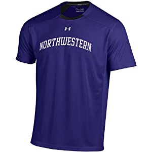 Buy NCAA Northwestern Wildcats Short Sleeve Win It Tee, Large, Purple by Under Armour