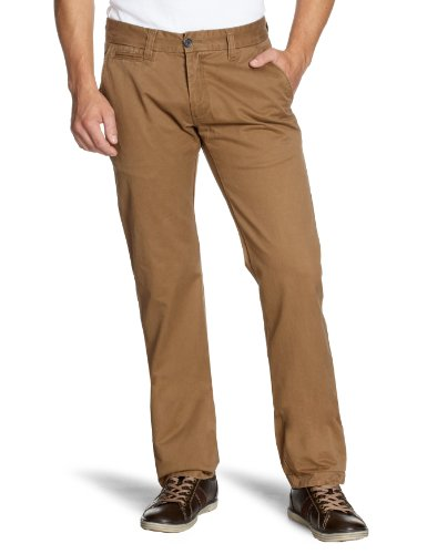 Selected Homme Jeans Three Paris Chino NOOS C Relaxed Men's Trousers Dark Camel W36INxL34IN