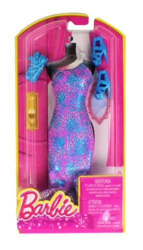 Barbie Dress Up Purple and Blue Gown with Fashion Accessories - 1
