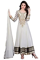 Off White Color Anarkali Suit.