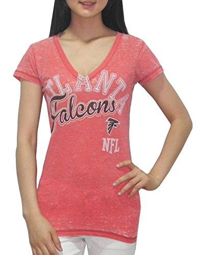 Nfl Atlanta Falcons Womens V-Neck T-Shirt (Vintage Look) Xl Red