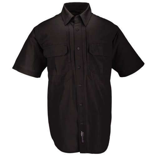 5.11 #71152 Cotton Tactical Short Sleeve Shirt (Black, X-Large)