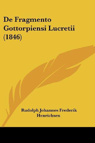de Fragmento Gottorpiensi Lucretii (1846)