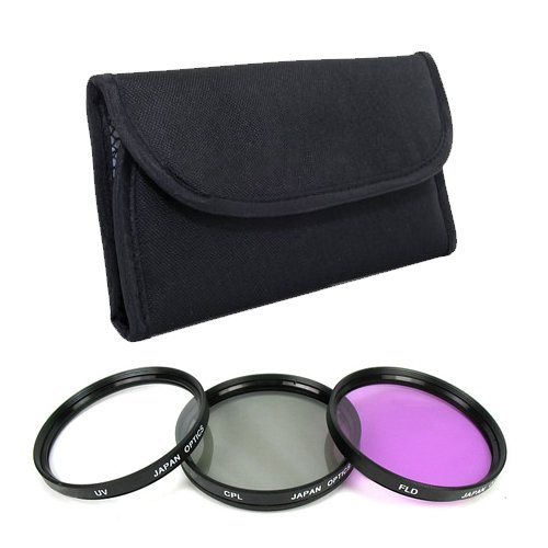 .. 58mm Multi-Coated 3 Piece Filter Kit (UV CPL FLD) For The Canon Digital EOS Rebel T3, T3i, T2i, T1i, Digital SLR Cameras Which Use Any Of These (18-55mm, 75-300mm, 50mm 1.4 , 55-250mm) Lenses