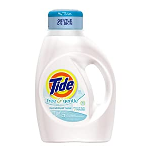 Tide Free and Gentle, Free of Dyes and Perfumes, 50-Ounce
