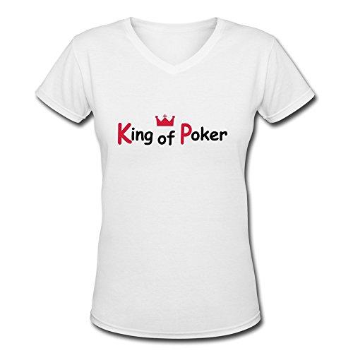 Ywt King Poker Womans Clothing Unique Retro White