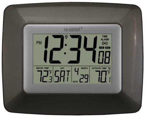 La Crosse Technology WS-8119U-IT-CHO Atomic Digital Clock, with Temperature